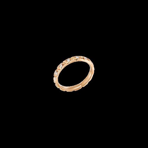 CHAUMET - FEDE NUZIALE TORSADE DE CHAUMET IN ORO ROSA E DIAMANTI - 082726