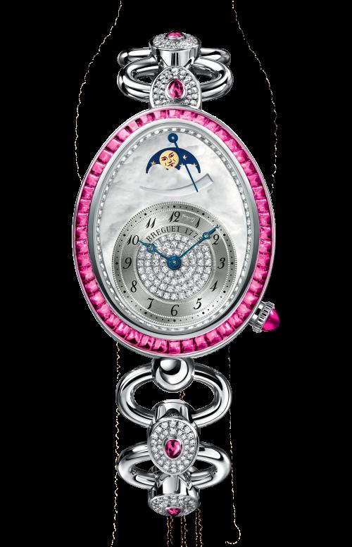 LADIES'' REINE DE NAPLES HIGH JEWELLERY MOON PHASES - 8909BB/5D/J21/RRRR