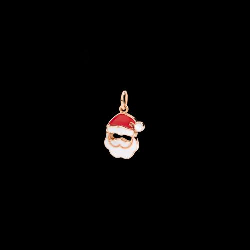 DODO CHRISTMAS - BABBO NATALE - EDIZIONE LIMITATA - CIONDOLO BABBO NATALE IN ORO ROSA E SMALTI - DMXMASSANTA/9/K