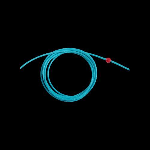 DODO CORDINI - CORDINO SPESSO - Cordino azzurro spesso con sigillo in resina rossa - DC.CEL3/R