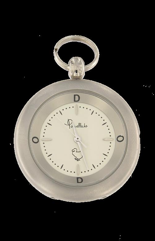 Orologio in acciaio movimento al quarzo con quadrante bianco Ø 33,0 mm