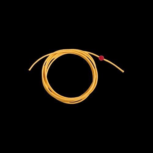 DODO CORDINI - CORDINO SPESSO - Cordino giallo spesso con sigillo in resina rossa - DC.GIA3/R