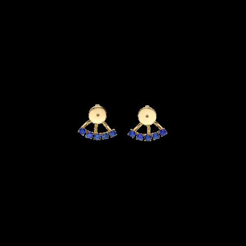 Chiusura in oro rosa 18 carati e zaffiri blu taglio brillante