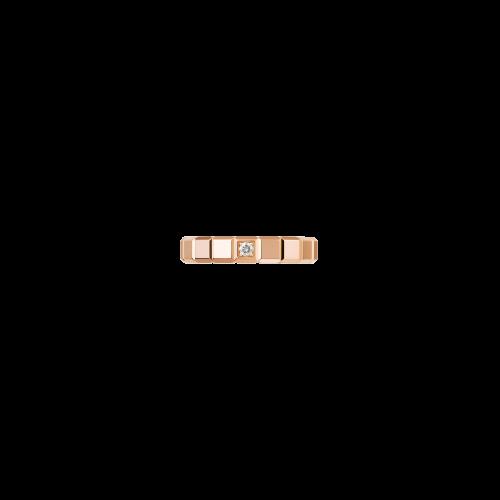 CHOPARD - ICE CUBE PURE - ANELLO IN ORO ROSA CON DIAMANTE - 829834-5069