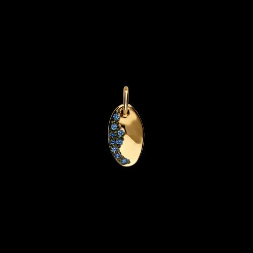 DODO DODOTAGS - PRECIOUS TAG - Ciondolo in oro rosa 9 kt con zaffiri azzurri - DM11/9/ZA/K