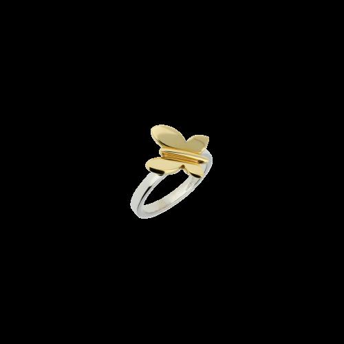 Anello Farfalla in oro rosa e oro bianco
