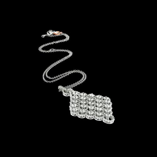 Collana Juliette in oro bianco e diamanti bianchi - 20021452