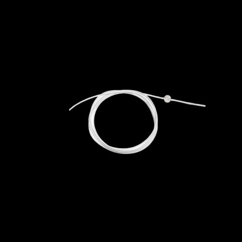 DODO CORDINI - CORDINO SOTTILE - Cordino bianco sottile con sigillo in argento - DC.BI1/A