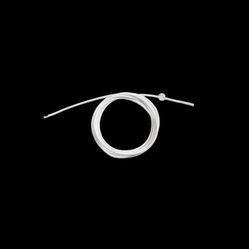 DODO CORDINI - CORDINO SPESSO - Cordino bianco spesso con sigillo in argento - DC.BI3/A
