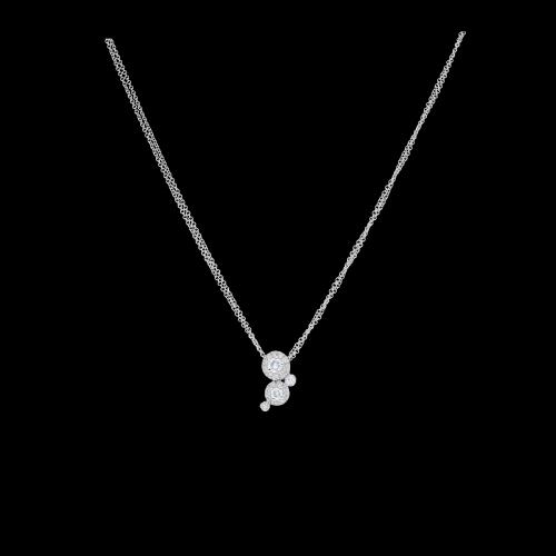 Collana in oro bianco e diamanti bianchi taglio brillante