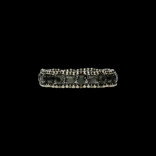 Bracciale in Argento ad elastico con Tormalina grigia