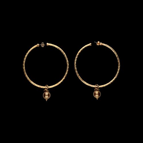 Orecchini in argento laminato oro e pietre dure