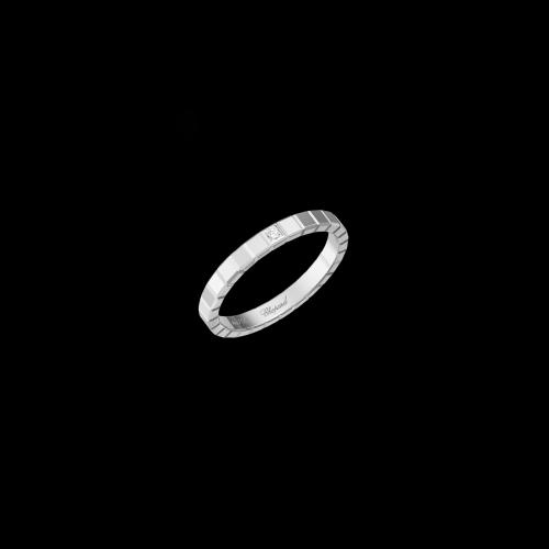 CHOPARD - ICE CUBE PURE - ANELLO IN ORO BIANCO CON DIAMANTE - 827702-1069