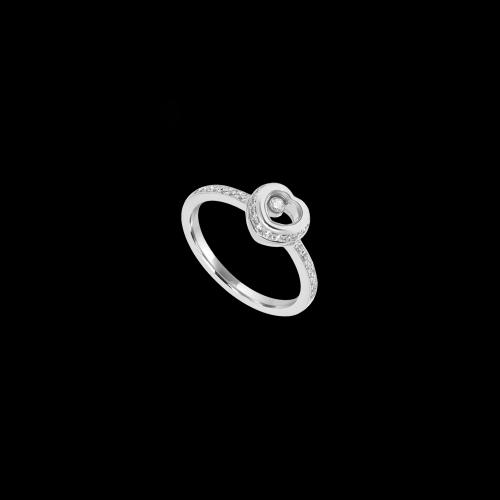 CHOPARD - HAPPY DIAMONDS ICONS - ANELLO CUORE IN ORO BIANCO CON DIAMANTI - 829009-1110