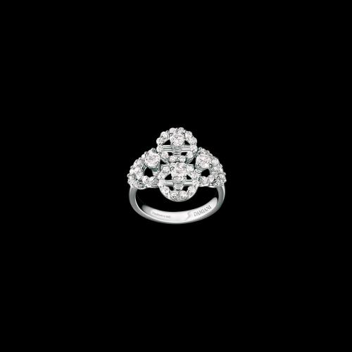 Anello Damiani Juliette in oro bianco e diamanti bianchi