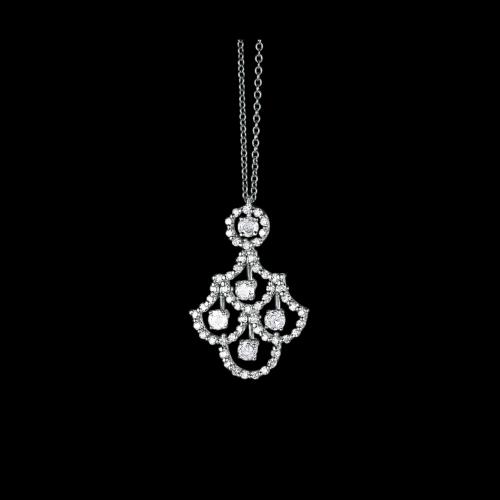 Collana Damiani Juliette in oro bianco e diamanti bianchi -  20021455