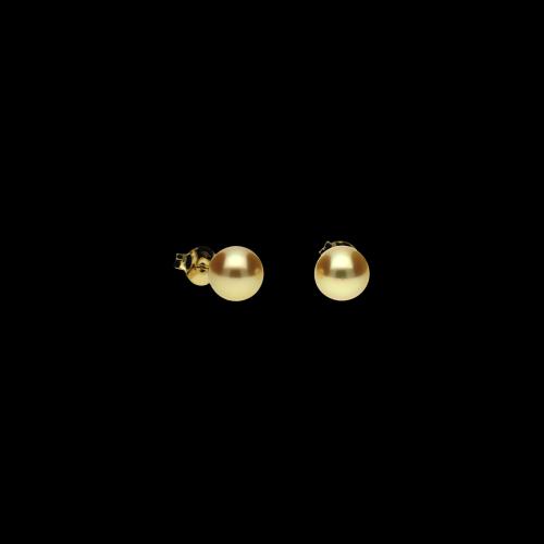Orecchini in oro giallo 18 carati e perle Gold Ø 7 - 7,5 mm