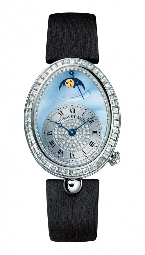 LADIES' REINE DE NAPLES HIGH JEWELLERY MOON PHASES - 8909BB/VD/864/D00D