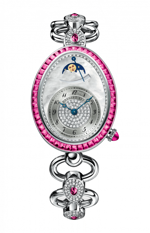 LADIES' REINE DE NAPLES HIGH JEWELLERY MOON PHASES - 8909BB/5D/J21/RRRR