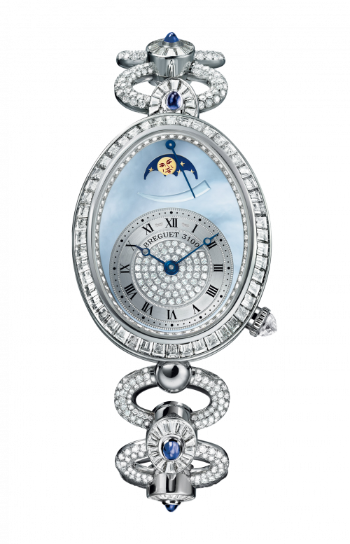 LADIES' REINE DE NAPLES HIGH JEWELLERY MOON PHASES - 8909BB/VD/J29/DDDD
