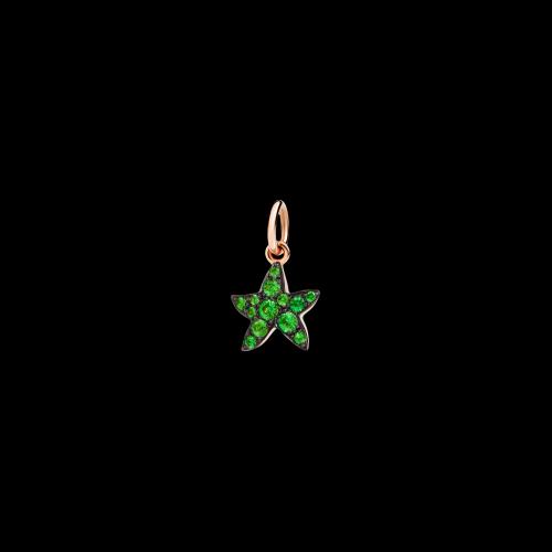 Stella Marina - Ciondolo in oro rosa 9 kt con tsavoriti