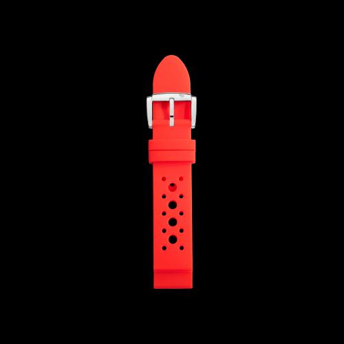 DODO WATCH - CINTURINO ROSSO PER CASSA 37 MM - Cinturino in silicone rosso con fibbia in acciaio lucido - CWD6RO/S