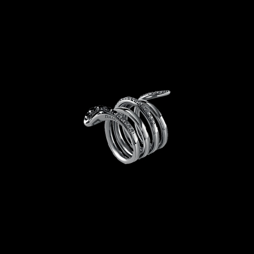 Anello Damiani Eden in oro nero , diamanti neri , diamanti brown e diamanti bianchi -  20062897