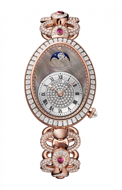 LADIES' REINE DE NAPLES HIGHT JEWELLERY MOON PAHASES - 8909BR/8T/J29/DDDR