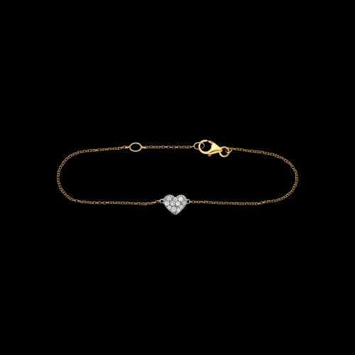 Bracciale in oror rosa 18 carati e diamanti bianchi taglio brillante