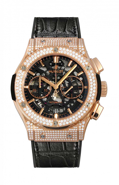 AEROFUSION KING GOLD PAVE' CHRONOGRAPH - 525.OX.0180.LR.1704