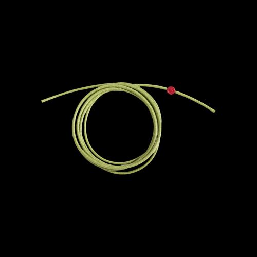 DODO CORDINI - CORDINO SPESSO - Cordino verde spesso con sigillo in resina rossa - DC.VEM3/R