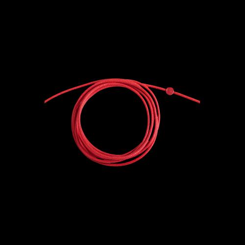 DODO CORDINI - CORDINO SPESSO - Cordino rosso spesso con sigillo in resina rossa - DC.ROF3/R