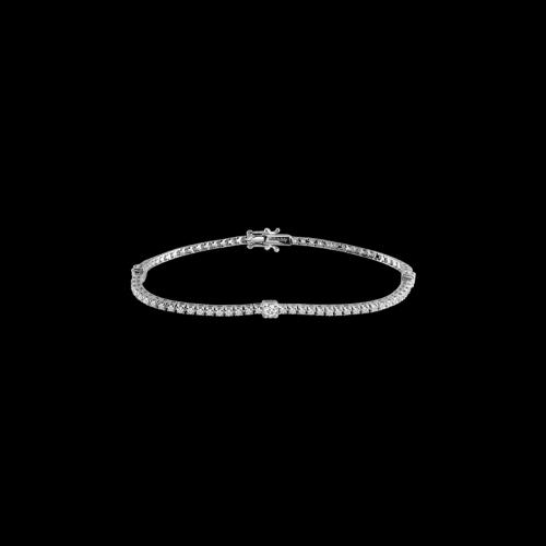 Bracciale Tennis in oro bianco e diamanti bianchi - 20063180