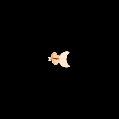 Luna - Orecchino singolo in oro rosa 9 kt.