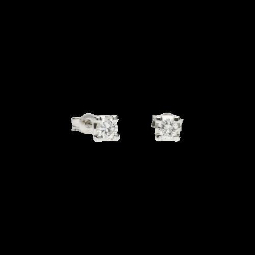 Orecchini in oro bianco 18 carati e perle bianche Ø 13,20