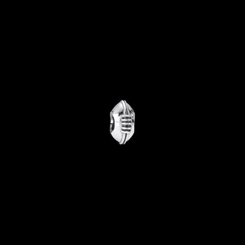 Palla da Rugby - Charm in Argento