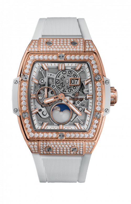 KING GOLD WHITE PAVE MOONPHASE - 647.OE.2080.RW.1604