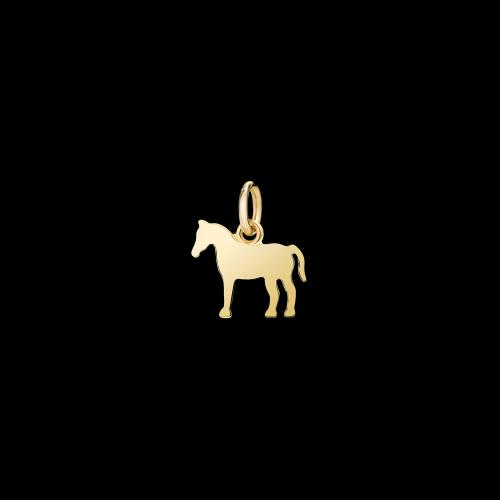 Cavallo - Ciodolo piccolo in oro giallo 18 carati