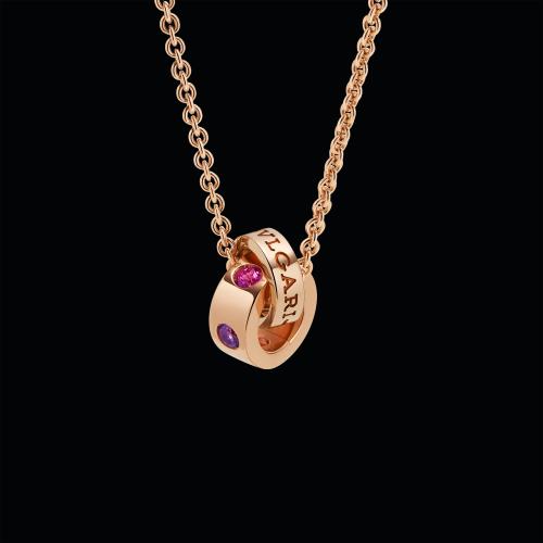 Collana BVLGARI BVLGARI in oro rosa 18 carati con ametiste e tormaline rosa