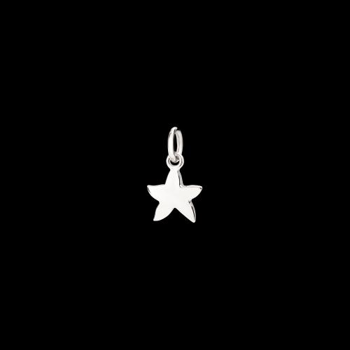 Stella marina - Ciondolo in oro bianco 9 carati rodiato