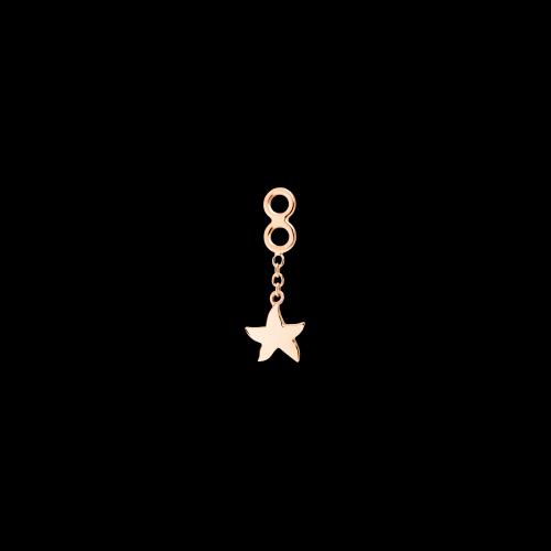 Stella marina - Earring Jacket singolo in oro rosa 9 carati