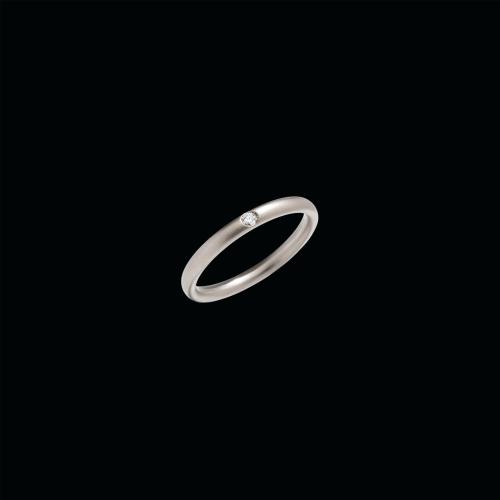 ANELLO LUCCIOLE - ANELLO IN ORO BIANCO SABBIATO CON DIAMANTE (CT 0.03) - A.A002SB2