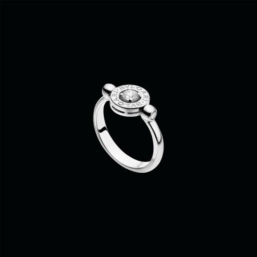 Anello girevole BVLGARI·BVLGARI in oro bianco 18 carati con diamante di 0,25 carati