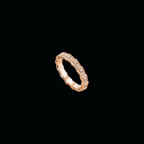 Fede nuziale Serpenti in oro bianco 18 carati con pavé di diamanti