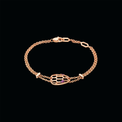 Bracciale Serpenti in oro rosa e amentista