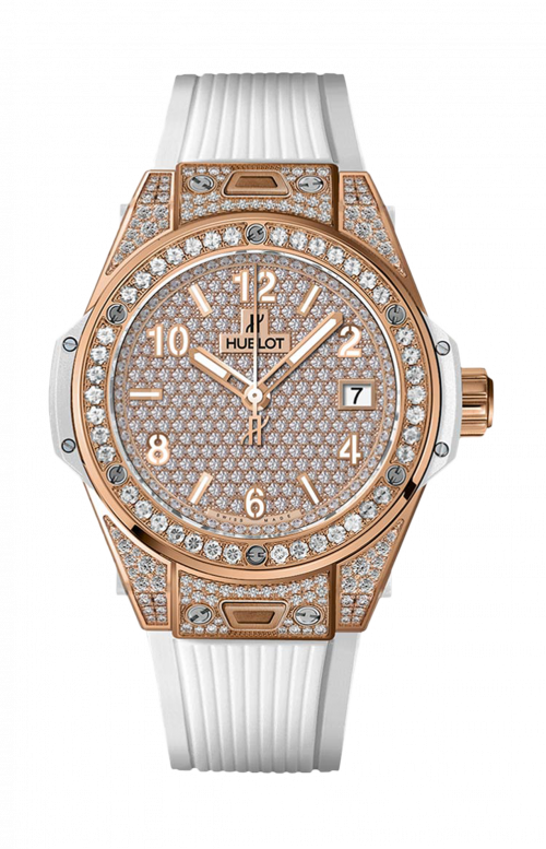 ONE CLICK KING GOLD WHITE FULL PAVE' - 465.OE.9010.RW.1604
