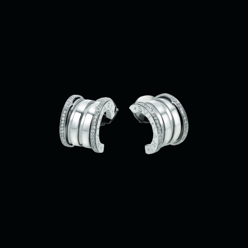 Orecchini B.zero1 in oro bianco e diamanti