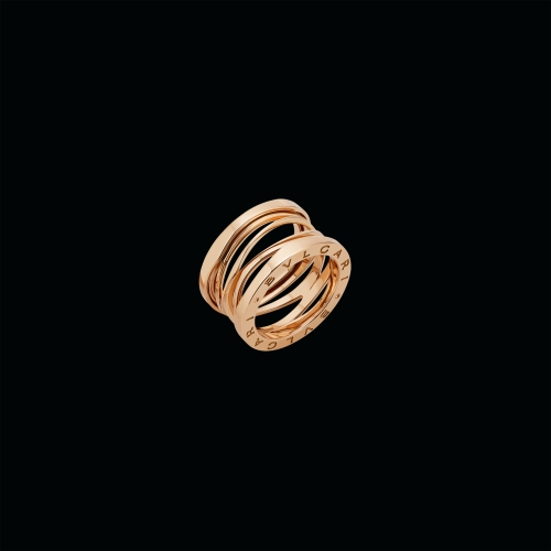 Anello B.zero1 Design Legend a quattro fasce in oro rosa.