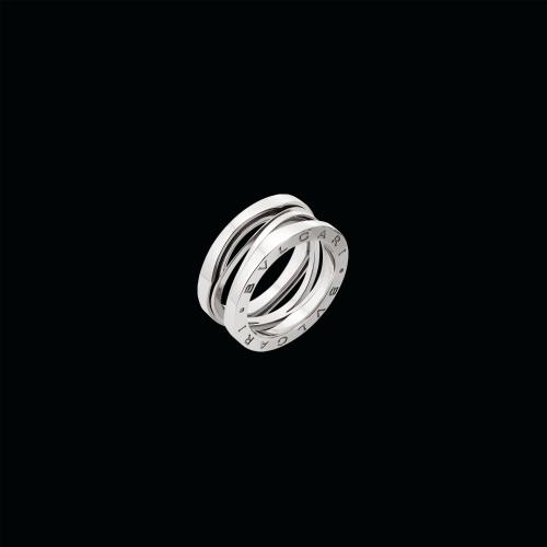 Anello B.zero1 a tre bande in oro bianco