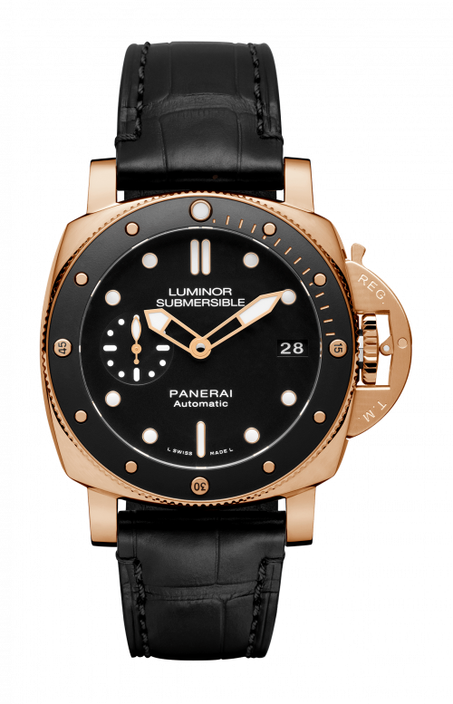 LUMINOR SUBMERSIBLE 1950 3 DAYS AUTOMATIC ORO ROSSO - 42MM - PAM00684